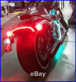 LED Fender Brake Light/Turn Signal Kit for Harley Davidson Breakout Clear Lens