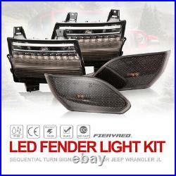 LED Fender Light Kit Fender Lights Sequential Turn Signal Light for Wrangler JL