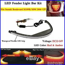 LED Turn Signal Fender Eliminator Light Bar Kit For Suzuki Boulevard M109R / M90