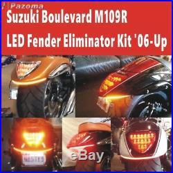 LED Turn Signal Fender Light Bar Eliminator Kit For Suzuki Boulevard M109R / M90