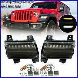 LED Turn Signal Fender Lights Running DRL for Jeep Wrangler JL JLU Rubicon 18-20