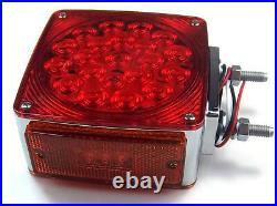 LED lights(2) 2 stud double faced square 21 diode Kenworth Peterbilt fender