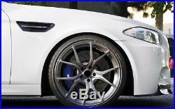 M Type Matt Black Front Grille + Fender Turn Signal Light Cover For BMW F10 M5