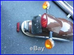 Moto Guzzi V11 EV Bassa Jackal cruiser touring rear fender brake turn signals