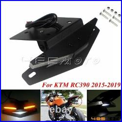 Motorcycle Tail Tidy Fender Eliminator Kit LED Turn Signals For KTM RC390 15-19