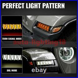 NEW JL LED Fender Flares Turn Signal Light DRL for Jeep Wrangler JL 2018-2021