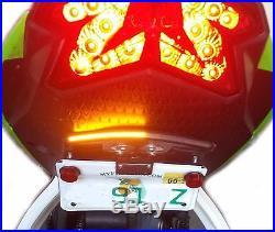 NINJA ZX6R FENDER ELIMINATOR KIT with LED Turn Signals 2009-2018 ZX-6R SMOKE