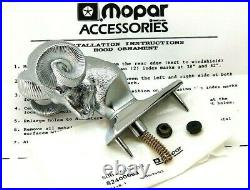 NOS 80s 90s DODGE RAM HOOD ORNAMENT RAMS HEAD D100 D150 D200 RAMCHARGER OEM TRIM