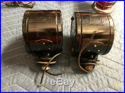 NOS PAIR Vintage DIETZ PILOT ARROW TURN SIGNALS TRUCK Light DOUBLE SIDED Nice