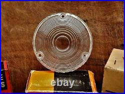 NOS TOYOTA Land Cruiser CLEAR ROUND FENDER LAMP LIGHT LENSES TURN SIGNAL FJ40