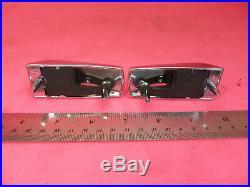 NOS Vigilite Fiber Optic Fender Signal Light Bezels gm chevy buick cadillac 70s