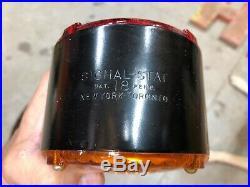 NOS VinTagE PR SIGNAL STAT 18 Turn Signal Red Amber Light TRUCK Fender IH Chevy