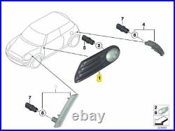 New Genuine MINI R56 CAMDEN Side Turn Signal With Grill White Set Pair L+R OEM