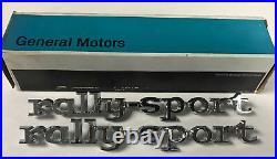 New Original Gm Nos 1968 Camaro Rally Sport Fender Emblems Pair # 3916692