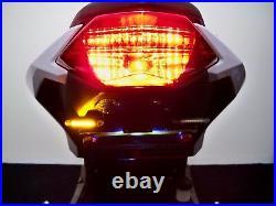 Ninja 300 Fender Eliminator Tucked Tag, LED Turn Signals and Brake, Clear Lens
