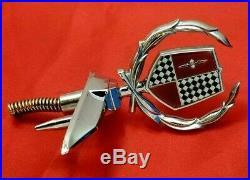 Nos 1974 Dodge Monaco Brougham Header Panel Emblem 74 Hood Ornament Mopar Trim