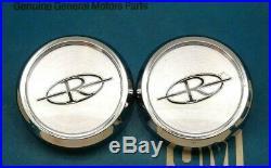 Nos 71 72 73 Buick Riviera Center Hub Cap Set Wheel Emblem Rim Ornament Gm Trim