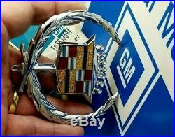 Nos 71 78 Cadillac Eldorado Fleetwood Deville Hood Ornament Emblem Gm Trim