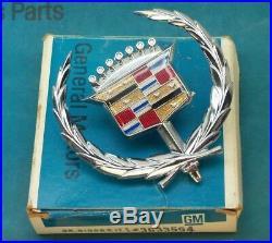 Nos 71 78 Cadillac Eldorado Fleetwood Deville Hood Ornament Emblem Molding Trim