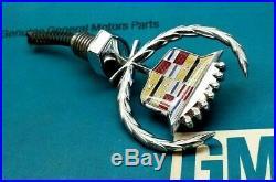 Nos 77 78 79 Cadillac Fleetwood Brougham Hood Ornament Header Panel Emblem Trim