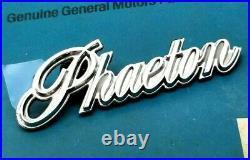 Nos 78 79 Cadillac Phaeton Platinum Silver Emblem Black Roadster Top Oem Gm Trim