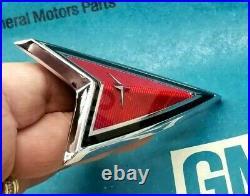 Nos 78 81 Pontiac Lemans Header Panel Arrow Head Emblem Ornament Gm Trim Molding