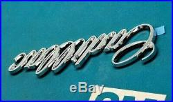 Nos 80 96 Cadillac Trunk Script Emblem Deck LID Genuine Oem Gm Trim
