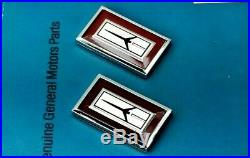 Nos 81 88 Olds Cutlass Supreme Door Rocket Emblem Set Fender Oem Gm Trim