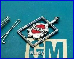 Nos 81 88 Olds Cutlass Supreme Hood Ornament Header Panel Emblem Ciera Euro Trim