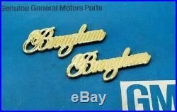 Nos 87 92 Cadillac 24k Gold Brougham 1/4 Panel Emblem Set Custom Made Trim