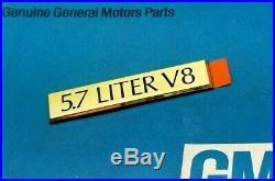 Nos 90 91 92 Cadillac Brougham 5.7 Liter Gold Trunk Emblem Nos Deck LID Gm Trim