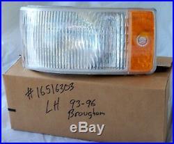 Nos 93 96 Cadillac Brougham Turn Signal Lens Housing Lamp Marker Light Gm Trim