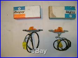 Nos Mopar 1969-70 Imperial Fender Turnsignal Lamps Nibs! Nice