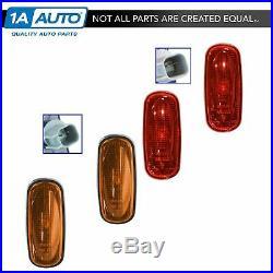 OEM Fender Bed Side Marker Light Lamp Red & Amber Set of 4 for Ram 3500 Dually