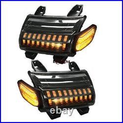 Pair LED Fender Double Turn Signal Lights for Jeep Wrangler JL Rubicon 2018-2021