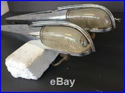 Pair Working 1941 1942 Packard Fender Or Turn Signal Lights, Nice Originals