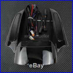 Rear Fender Extension Fascia Turn Signal Running Brake Fit For Harley 2009-2013