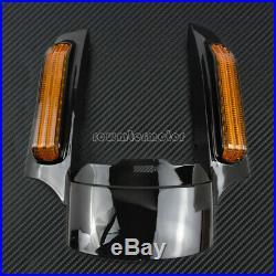 Rear Fender Extension Fascia Turn Signal Running Brake Fit For Harley 2014-2019