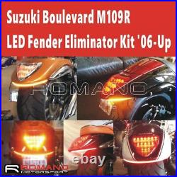 Rear Fender LED Brake Turn Signal Taillight For Suzuki Boulevard M109R M90 06-Up