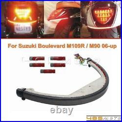 Rear LED Turn Signal Fender Light Bar Kit For Suzuki Boulevard M109R BOSS M109R2