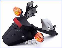 Rear Turn Signal Fender License Plate Mount Bracket For Honda CBR600RR 2003-2006
