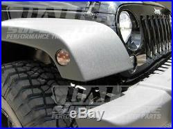 Recon Front Turn Signal & Side Fender SMOKED Lens Combo Jeep Wrangler JK 07-14