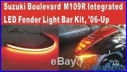 Red Amber LED Turn Signal Light Fender Eliminator Kit For Suzuki Boulevard M109R