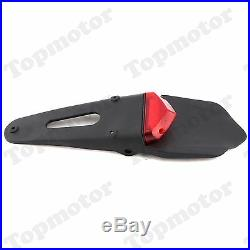 Red Motorcycle Fender LED Rear Tail Brake Light With Turn Signals Lamp Custom