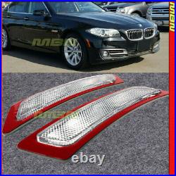 Reflector Side Marker Lights Lamps Clear Lens For BMW F10 5-Series 2014-2016
