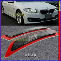 Reflector Side Marker Lights Lamps Smoke Lens Pair For BMW F10 5-Series 14-16