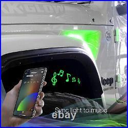 Rgb+amber Turn Signal Running Light For Jeep Jl&jt Fender Vent Light Xkchrome