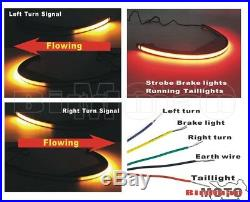 Sequential Fender LED Turn Signal Brake Tail Light for Suzuki Boulevard M109R