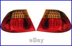 Set Left Right Outer Fender Genuine LED Taillights Amber Turn Signal For BMW E46