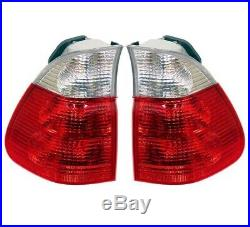 Set Left & Right Outer Fender Genuine Tail Lights White Turn Signal For BMW E53